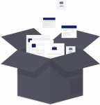 Illustration: Dokumente in Box